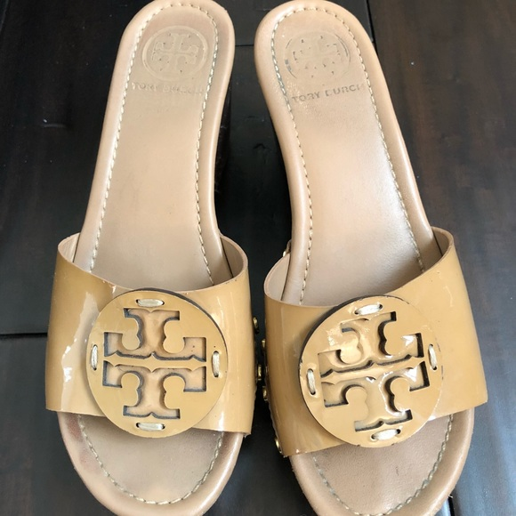 Tory Burch Shoes - Tory Burch patty wedge sandals 5.5